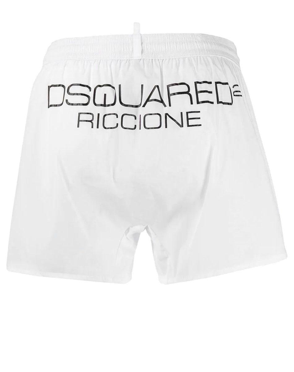 Белые шорты Dsquared2 Riccione с логотипом