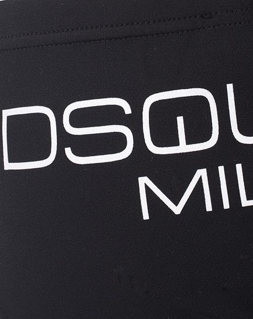 Черные плавки Dsquared2 Milano с брендовым принтом, фото