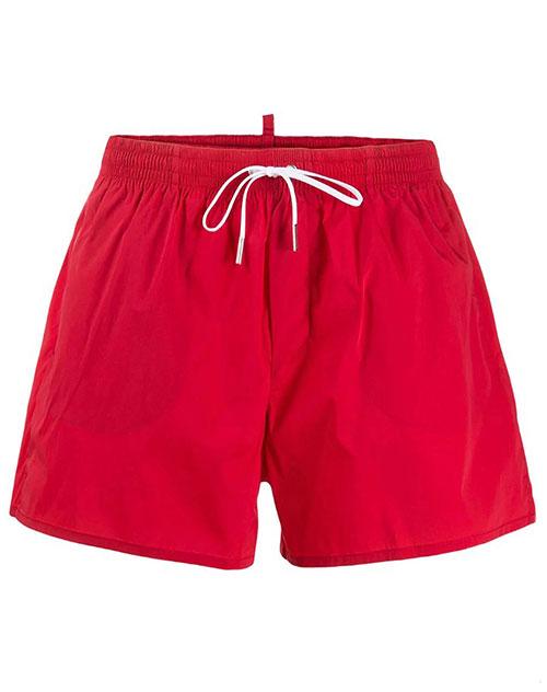 Плавательные шорты Dsquared2 Icon в красном цвете, фото