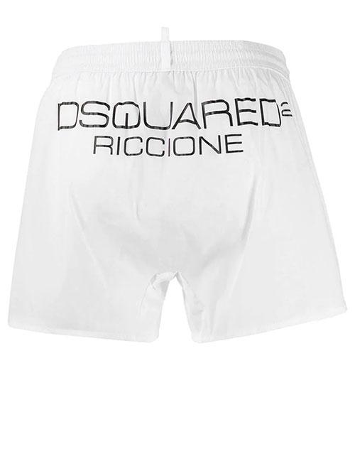 Белые шорты Dsquared2 Riccione с логотипом, фото