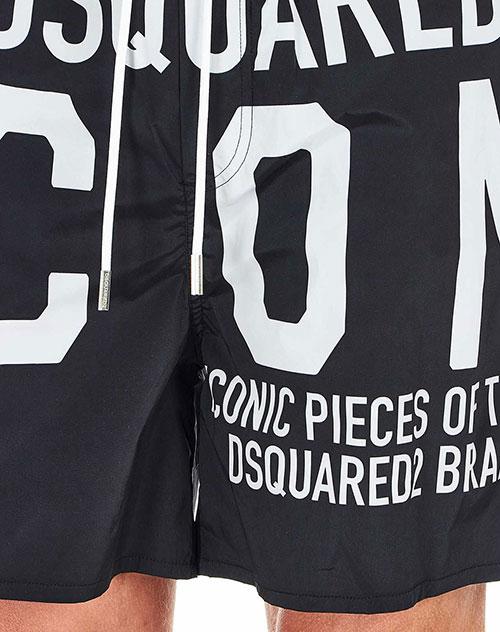 Пляжные шорты Dsquared2 Icon с надписями, фото
