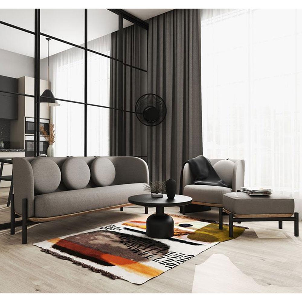 Серый диван Wudus Royal Sun с подушками