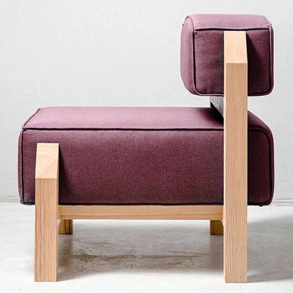 Мягкое кресло Wudus T-block бордового цвета
