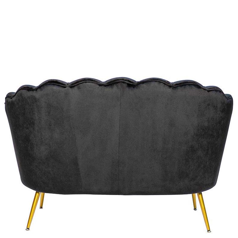 Мягкий диван PRESTOL Party Шелл черного цвета