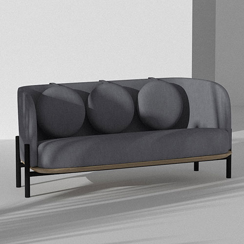 Серый диван Wudus Royal Sun с подушками, фото