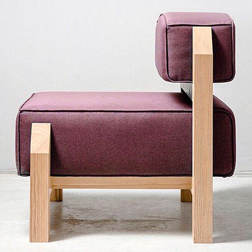 Мягкое кресло Wudus T-block бордового цвета, фото