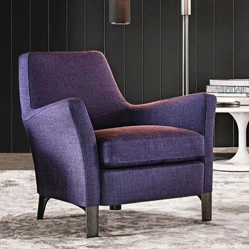 Кресло Мinotti Denny синего цвета, фото