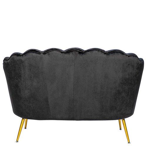 Мягкий диван PRESTOL Party Шелл черного цвета, фото