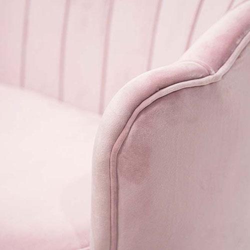 Мягкий диван PRESTOL Party Шелл розового цвета, фото