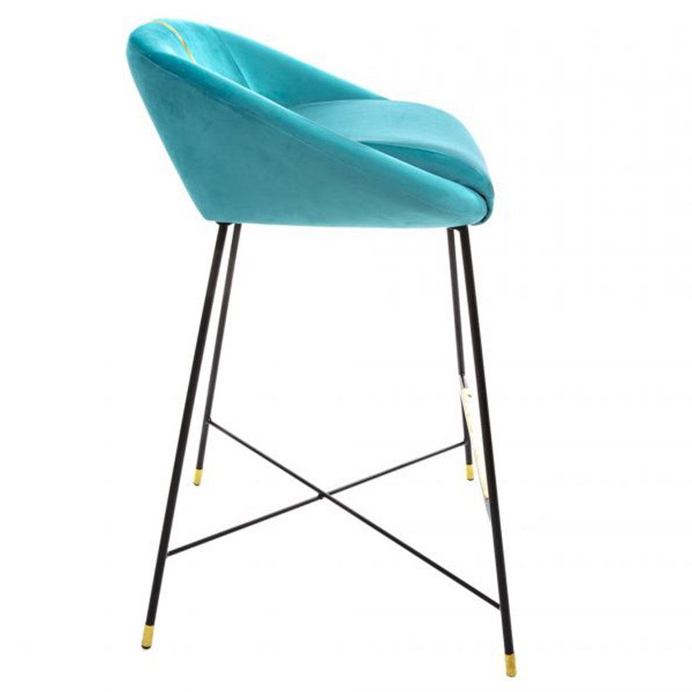 Барный стул Seletti Toiletpaper голубого цвета