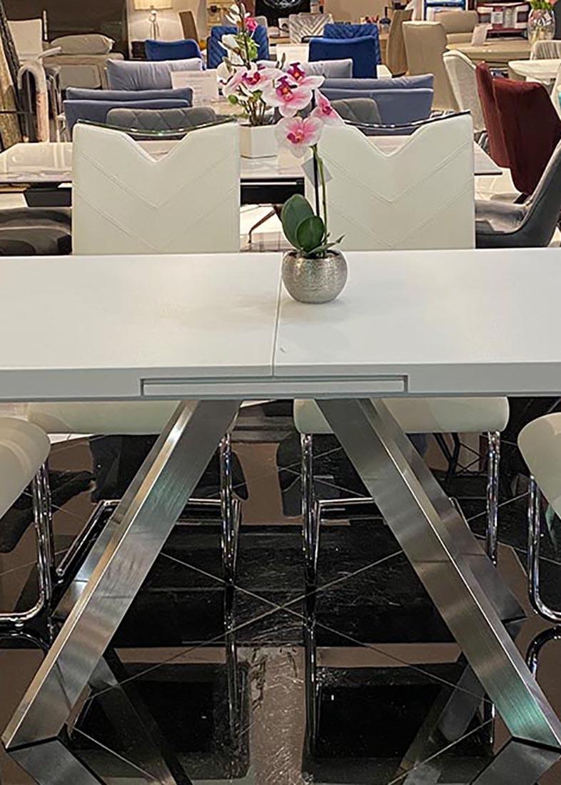 Обеденный стол PRESTOL Кемел белого цвета