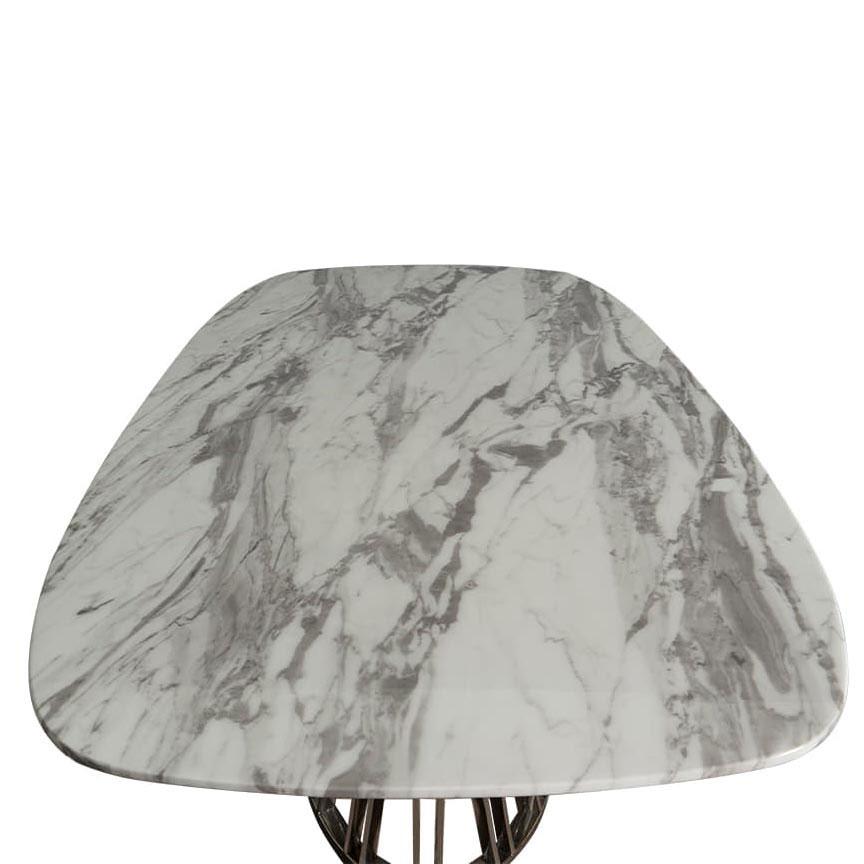 Обеденный стол PRESTOL Exclusive Эван белого цвета