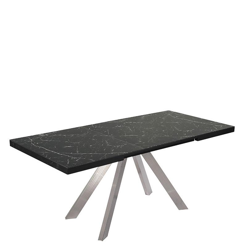 Раскладной стол PRESTOL Loft Кемел черного цвета