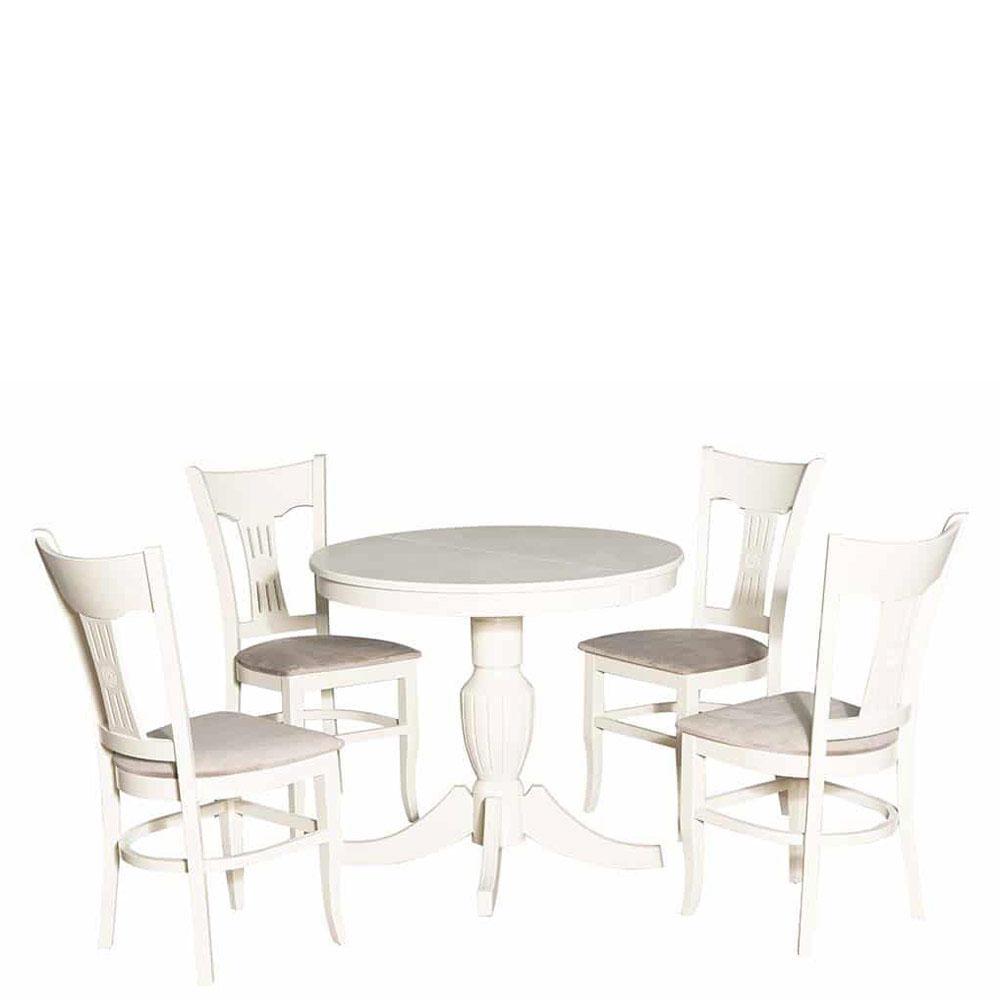 Раскладной стол PRESTOL Art Бланка оттенка айвори