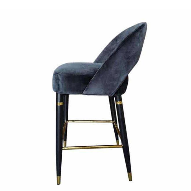 Полубарный стул PRESTOL Exclusive Фостер черного цвета