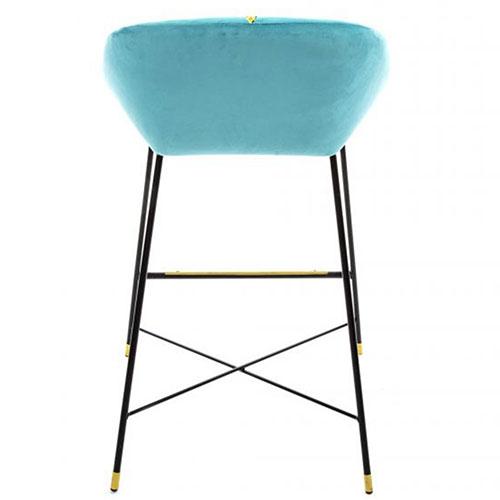 Барный стул Seletti Toiletpaper голубого цвета, фото