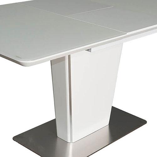 Раскладной стол PRESTOL Hi-tech Марлен белого цвета, фото