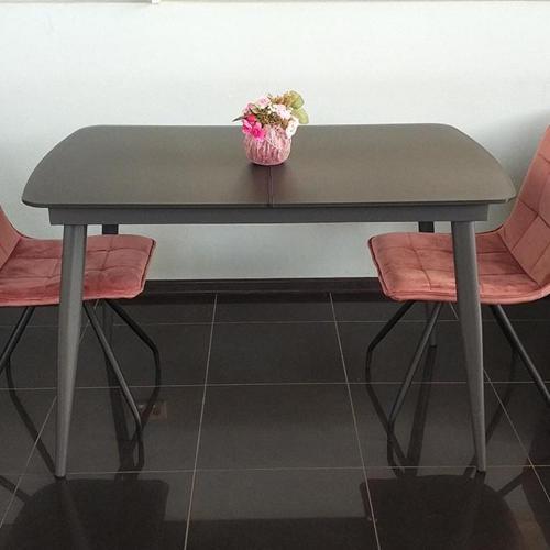 Стол PRESTOL Smart Твист обеденный раскладной серый, фото