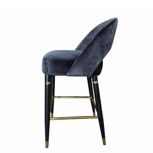 Полубарный стул PRESTOL Exclusive Фостер черного цвета, фото