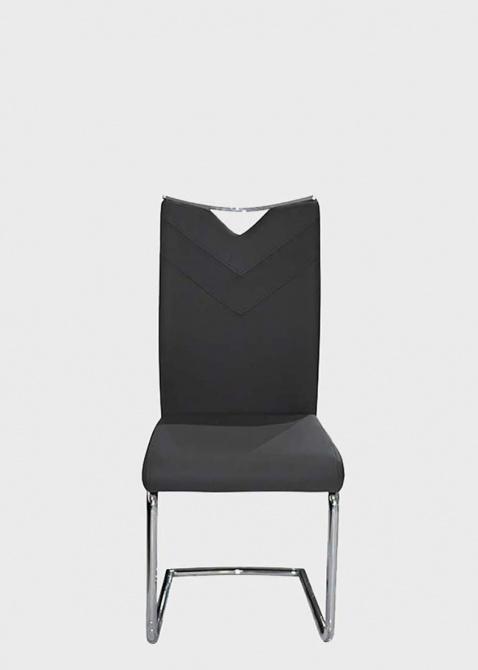 Серый стул PRESTOL Тиффани из экокожи, фото