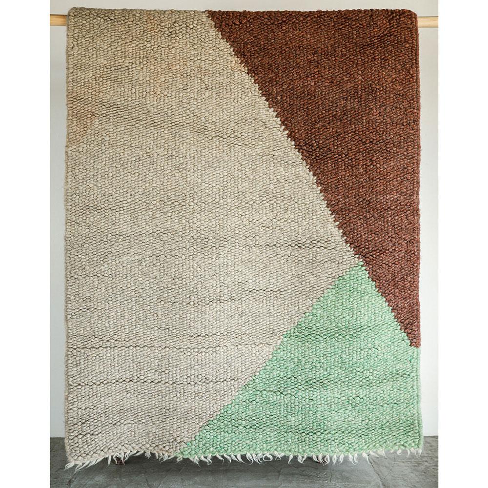 Квадратный ковер Ґушка трехцветный 142х180см