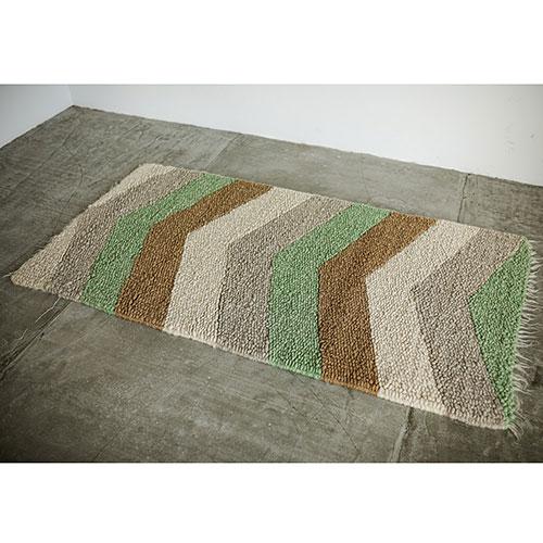 Шерстяной ковер Ґушка с цветным рисунком 100х187см, фото