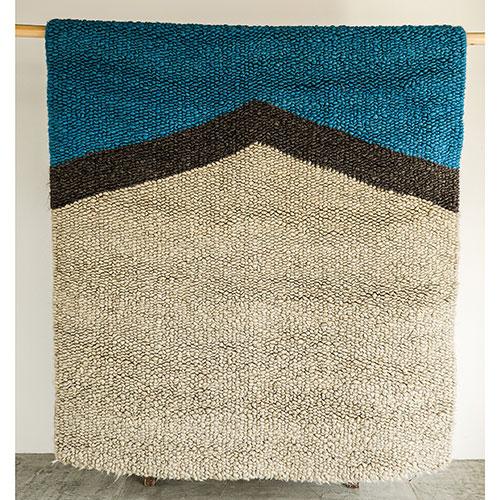Шерстяной ковер Ґушка двухцветный 182х156см, фото