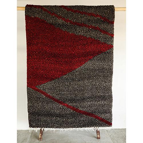 Прямоугольный ковер Ґушка двухцветный 112х163см, фото