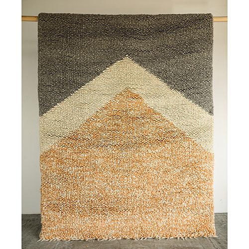 Двухцветный ковер Ґушка из шерсти 150х210см, фото