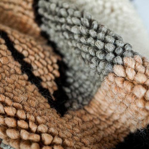 Ковер шерстяной Ґушка ручной работы 206х217см, фото