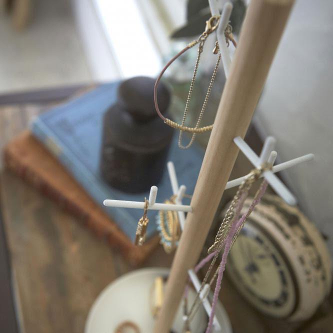 Органайзер для украшений Yamazaki Tosca белого цвета