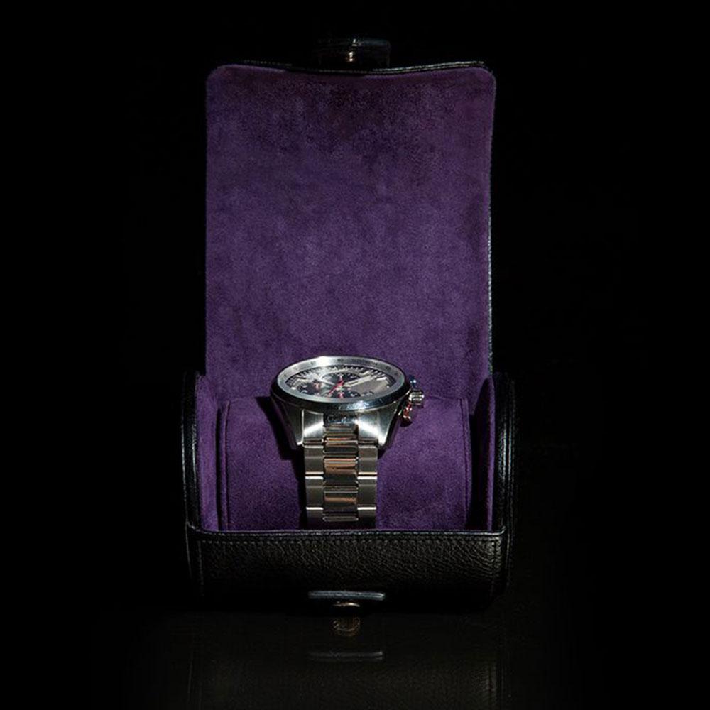 Футляр Wolf 1834 для часов в черном цвете на кнопку