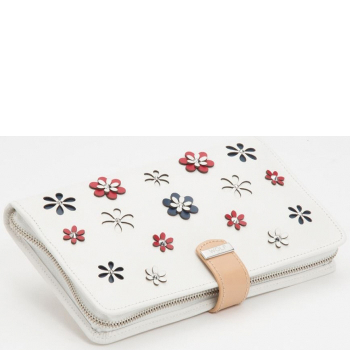 Футляр Wolf 1834 Blossom для украшений белого цвета с цветами