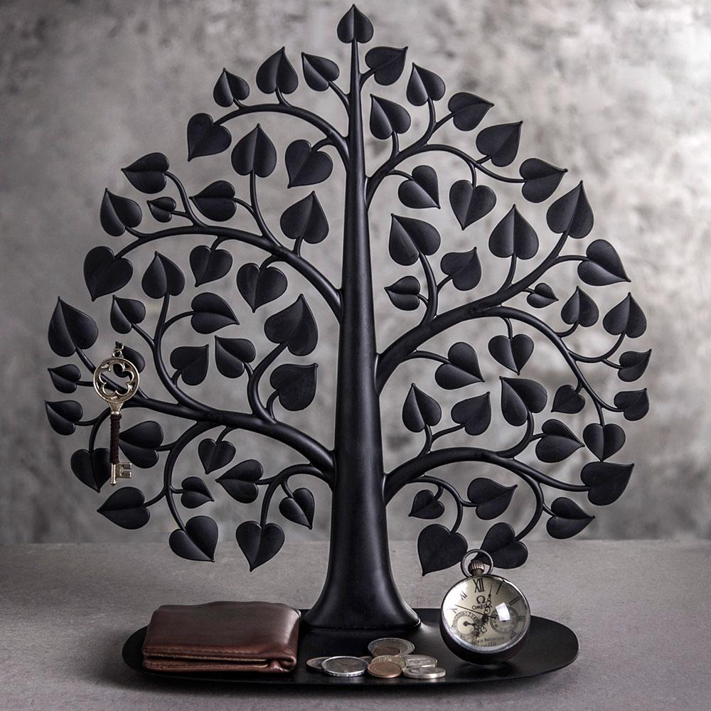 Подставка для украшений и аксессуаров Qualy Дерево бодхи черного цвета