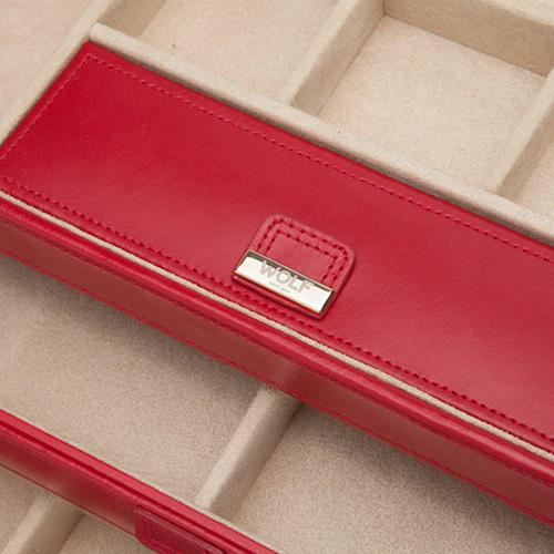 Шкатулка Wolf 1834 Caroline для хранения украшений красного цвета, фото