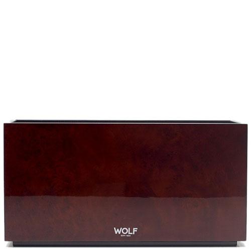 Деревянная шкатулка Wolf 1834 для часов и украшений коричневого цвета, фото