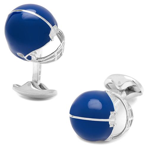Запонки Deakin&Francis Silver в форме шлема, фото