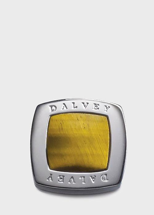 Запонки Dalvey Quadrille с тигровым глазом, фото