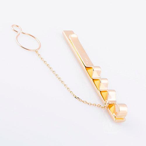Зажим для галстука из желтого золота, фото