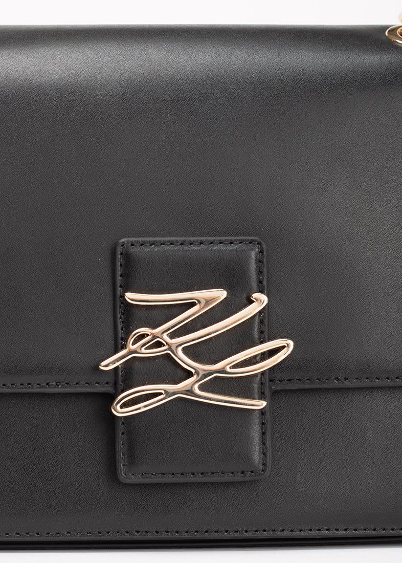 Черная сумка Karl Lagerfeld на цепочке