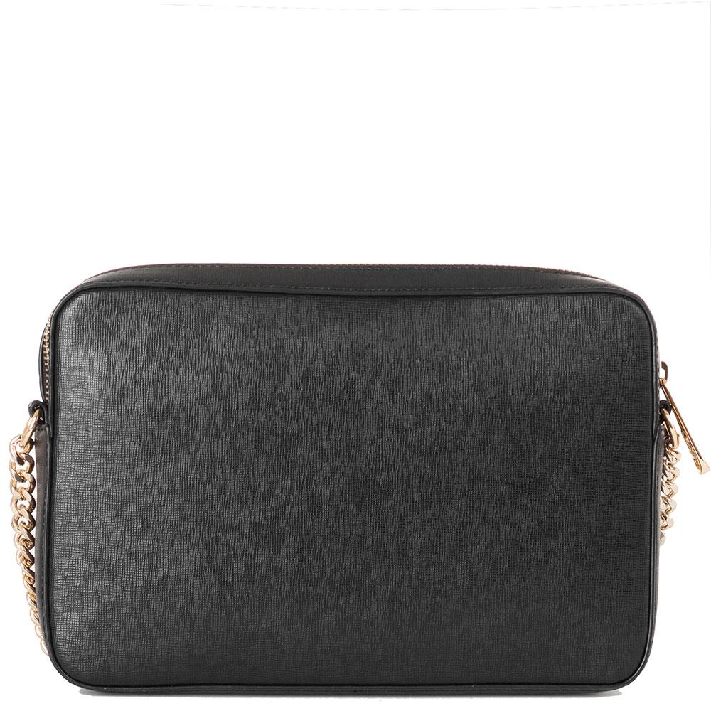 Черная сумка Lа Martina Portena с металлическим логотипом
