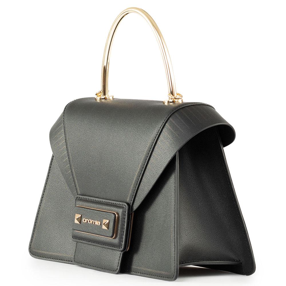 Сумка-портфель Cromia Diva из черной кожи
