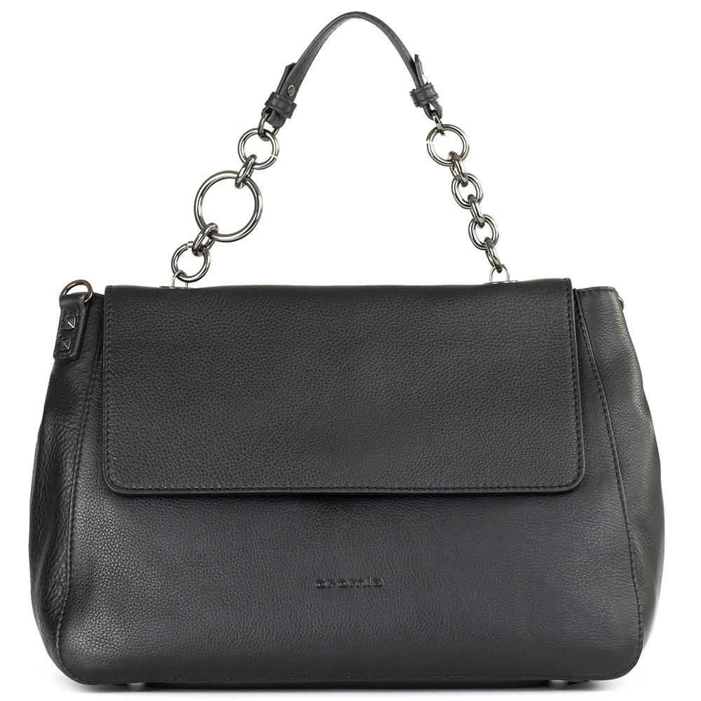 Черная сумка Cromia Brave со съемным регулируемым ремнем