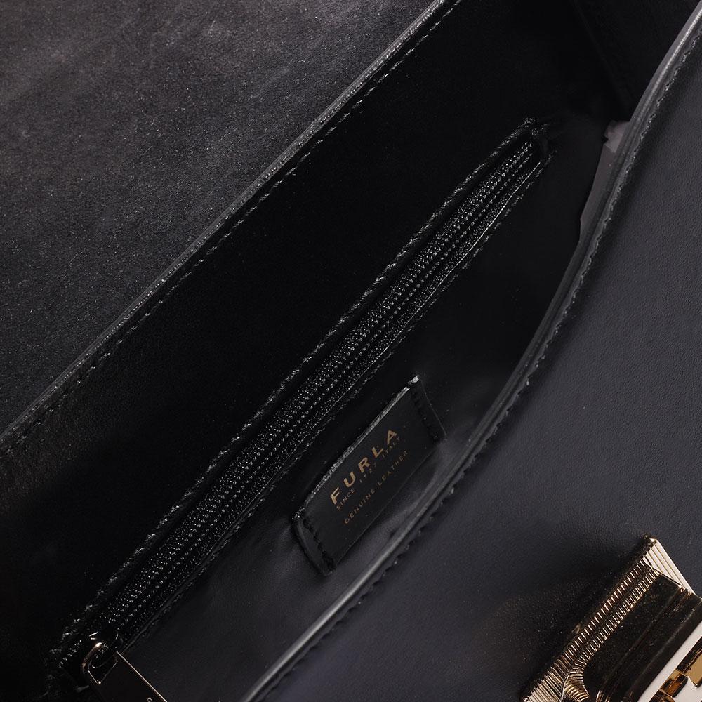 Сумка Furla из кожи черного цвета