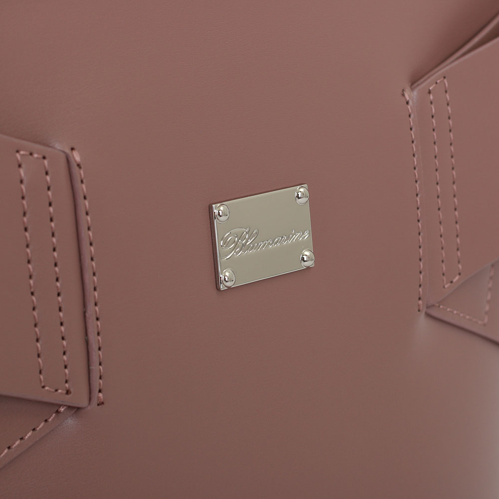 Розово-бежевая сумка Blumarine Jenny со съемным ремнем