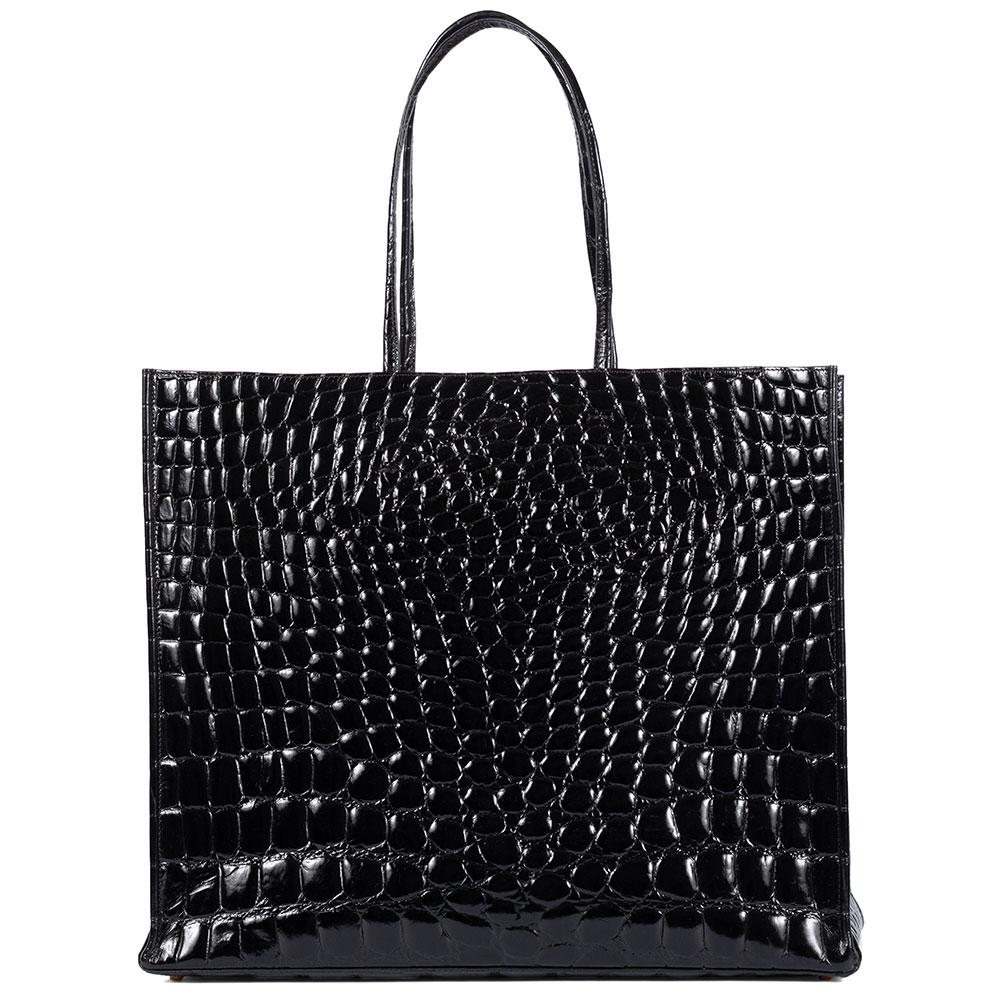 Черная сумка N21 из фактурной кожи
