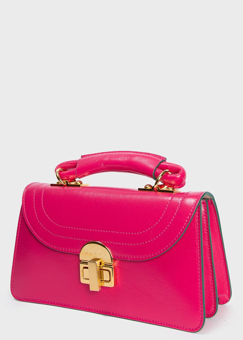 Розовая сумка Marni трапециевидной формы