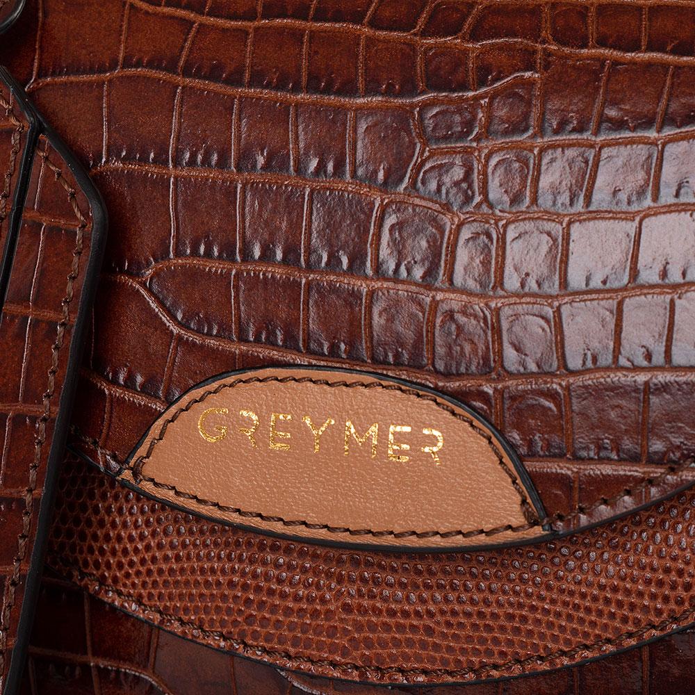 Маленькая сумка Greymer из кожи с тиснением