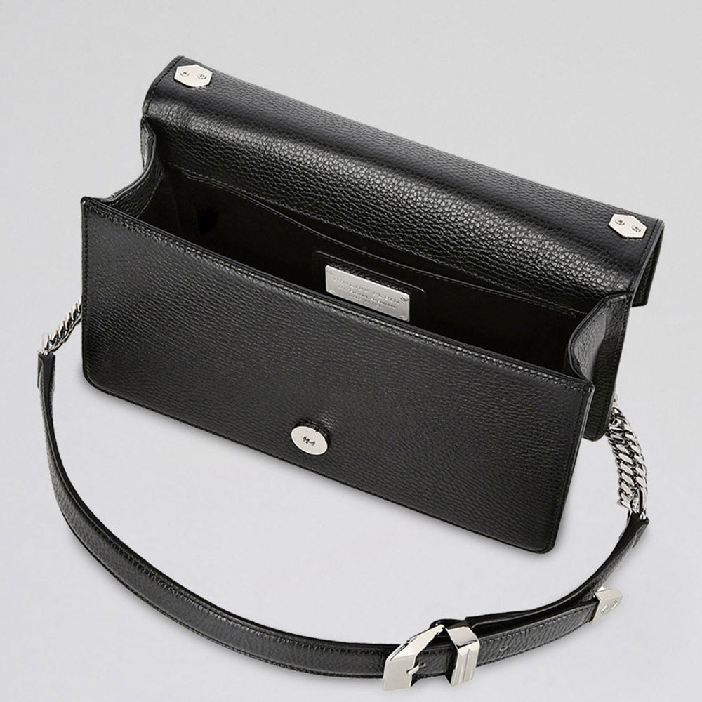 Черная сумка Philipp Plein со стразами и шипами