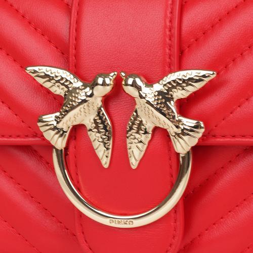 Женская сумка флеп-бег Pinko Mini Love Bag в красном цвете, фото